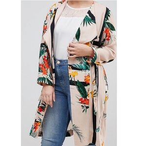 River Island Floral Duster Coat (matching set)